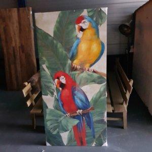 Papegaaien schilderij olieverf - Pilota Stoer Wonen