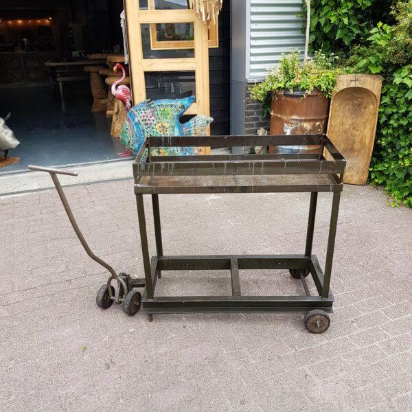 Vintage metalen trolley - Pilota Stoer Wonen