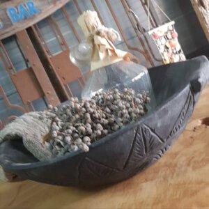 Zwarte schaal van oud hout - Pilota stoer wonen